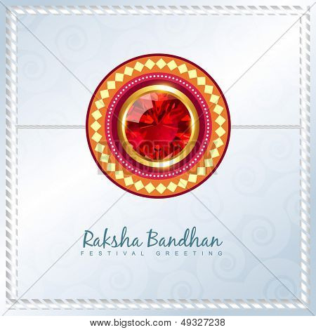 shiny rakhi vector background with space for your text