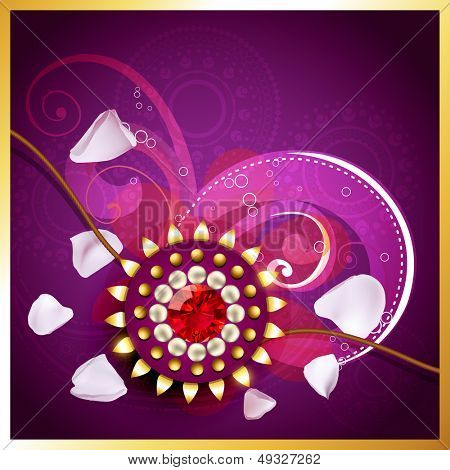 vector rakhi background with space for your text