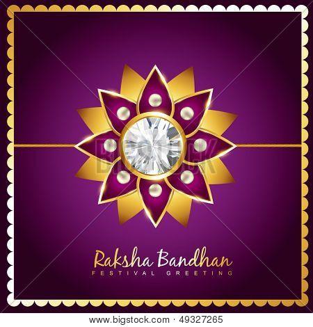 vector creative raksha bandhan background