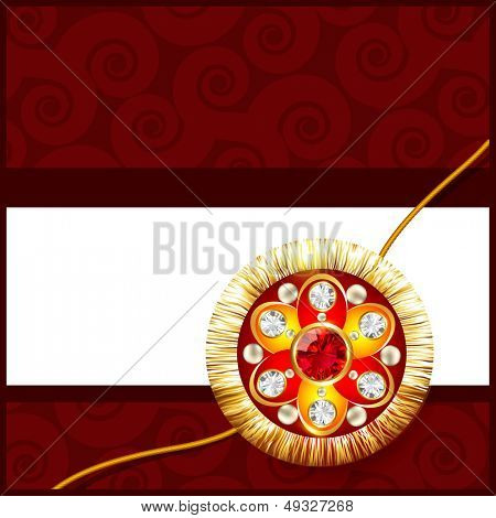 beautiful golden rakhi with space for your text