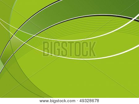green dynamic wave