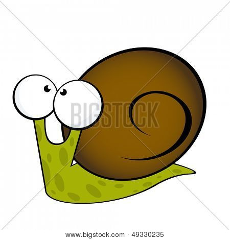 cute snail illustration
