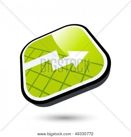 modern business trend sign