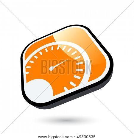 moderne Tachometer Zeichen
