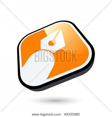 modern pen sign