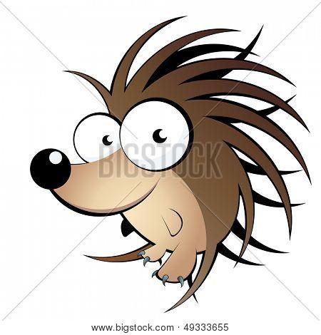 funny hedgehog cartoon