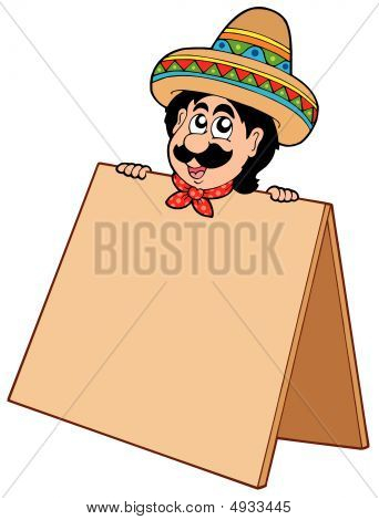 Mexican Man With Table