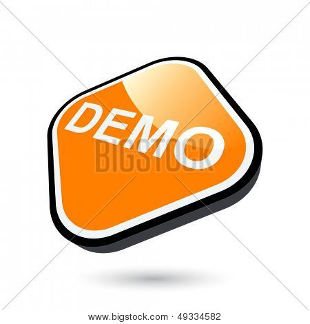 modern demo sign