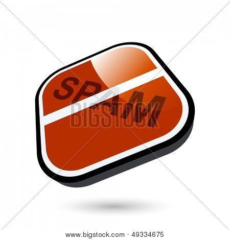 modern spam sign