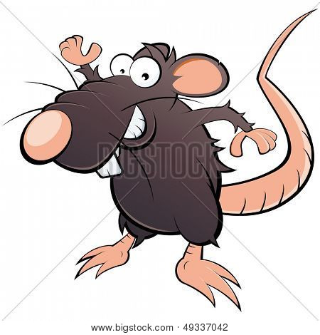 grappige cartoon rat