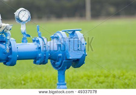 Blue irrigation valve