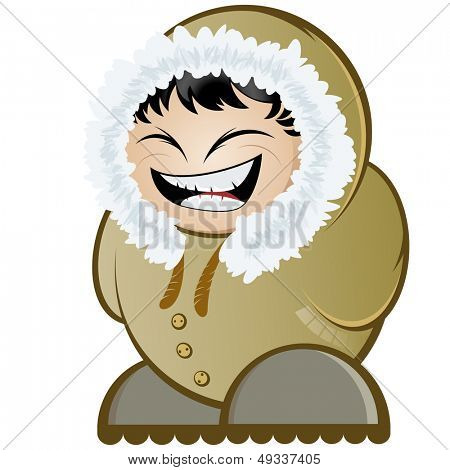 funny cartoon eskimo