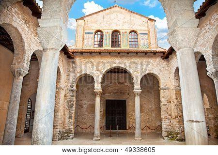 Euphrasius-Basilika in Porec, Istrien, Kroatien.