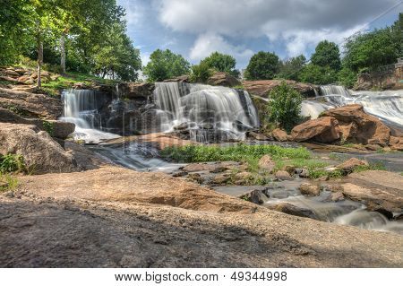 Hdr Falls Park On The Reedy River