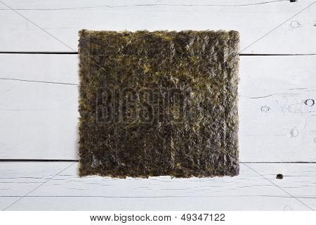 A Sheet Of Dried Seaweed