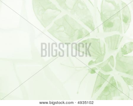 Green Butterfly Stationary