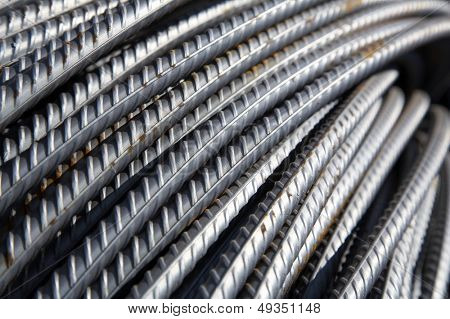 bars of reinforced steel