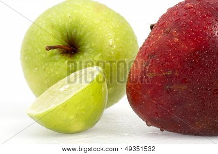 Two Apples w/ Path and lemon
