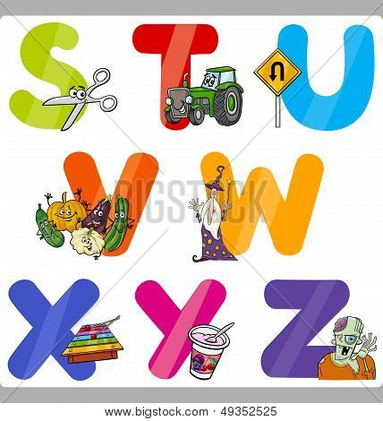 Education Cartoon Alphabet Letters For Kids