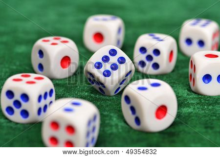 Dice On The Baize