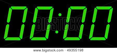 Digital Clock Show Midnight