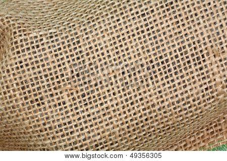 burlap weave detail