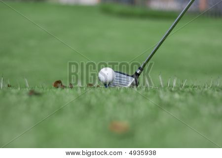 Tee Off In Rough