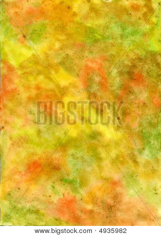 Handmade Watercolor Yellowish Texture