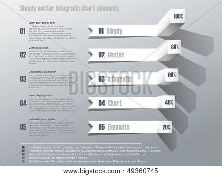 Simply vector infografic chart