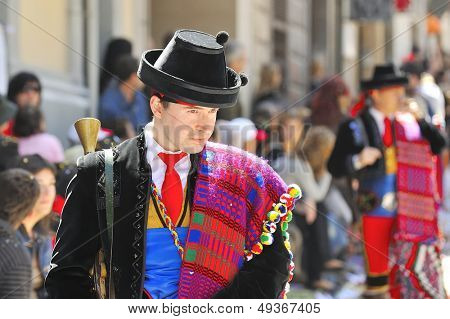 spanish people in fiesta - moors and christians  - april 2008, alcoy-spain