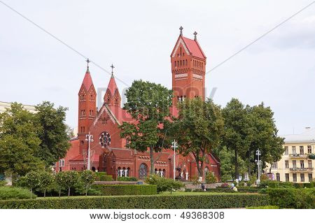 Red Chapel In Minsk, Republic Of Belarus