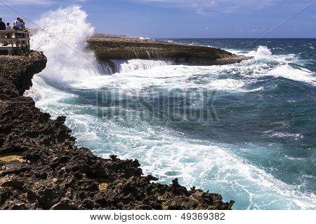 Rough Sea On Curacao