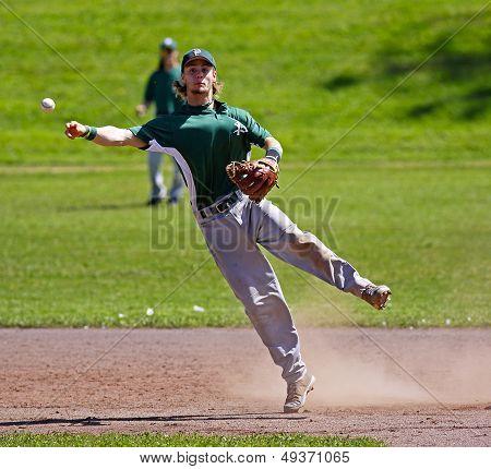 Canada Games Baseball Man Throw Shortstop