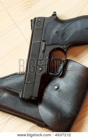 Handgun And Holster