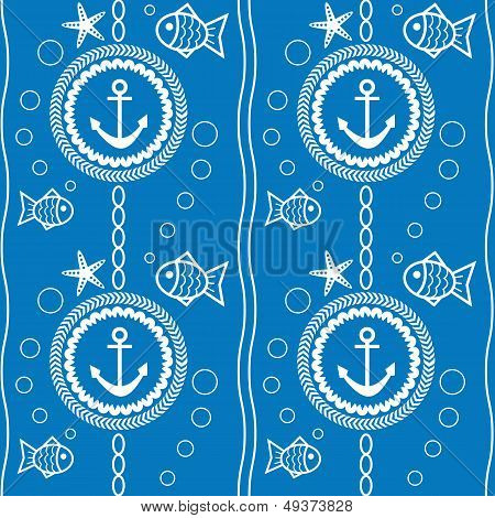 seamless pattern with a maritime theme