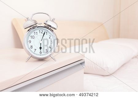 Alarm Clock And Bed