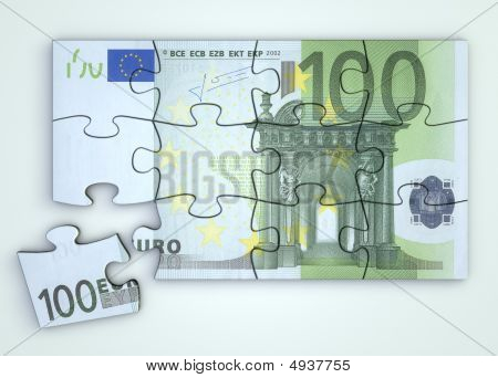 100 Euro Note Puzzle - Top View