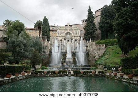 Fountain In Villa D'este. Tivoli, Italy