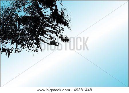 Splatter corner in a frame