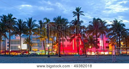 Miami Beach Florida at sunset