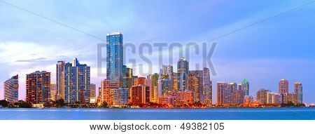 Miami Florida at sunset