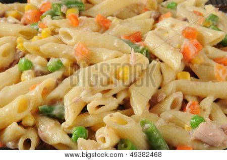 Closeup Of Tuna Noodle Casserole
