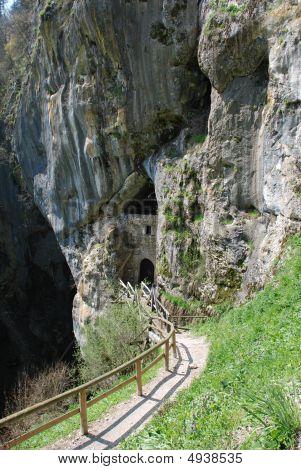 Cave Under Predjama Grad Slovenia