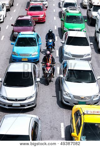 Faster way to transport on busy roads in bangkok