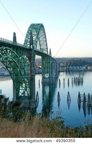 Yaquina Bay Bridge In Newport, Or