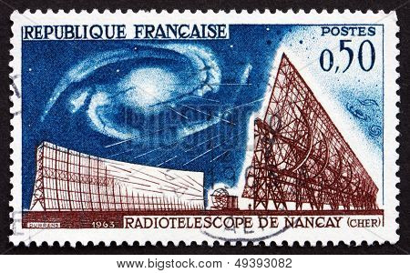 Postage Stamp France 1963 Radio Telescope, Nancay