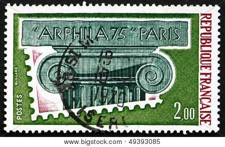 Postage Stamp France 1975 Ionic Capital