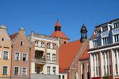 stock photo of tenement  - Grudziadz in Pomerania region of Poland - JPG