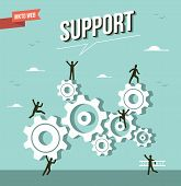 image of market segmentation  - Web marketing gear wheel support illustration - JPG