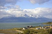 stock photo of tierra  - City of Ushuaia and Beagle Channel Tierra del Fuego Argentina - JPG